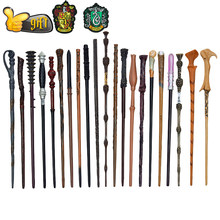 27 Kinds of Metal Core Potters Magic Wands Cosplay Voldemort Hermione Magical Wand Harried Cloth label as Bonus without Box(China)