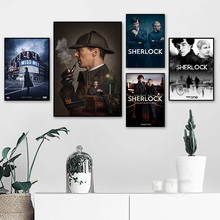 Sherlock TV series Movie Nordic Posters And Prints Wall Art Canvas Painting Wall Pictures For Living Room Decor