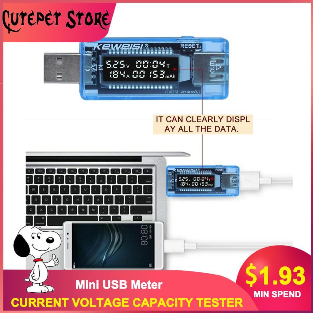 LCD USB Detector USB Volt Current Voltage Doctor Charger Capacity Tester Meter Voltmeter Ammeter Power Bank Plug