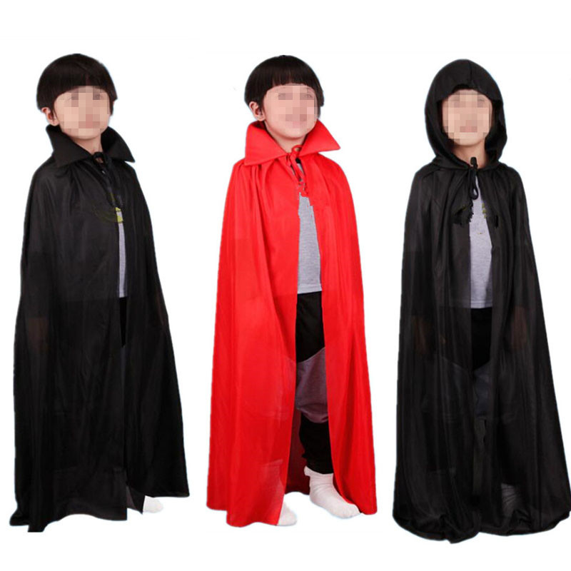 Boy Girl Adults Kids Devil Vampire Cloak Performance Cloak Masquerade Cosplay Costumes Props Birthday Party Gift Halloween