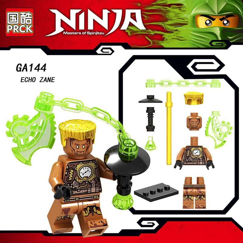 Single Sale LegoINGlys Movie Ninja Figures NYA ECHO ZANE  JAY GENERAL KOZU Blocks Bricks Collection Diy Toys Baby Gifts GA144