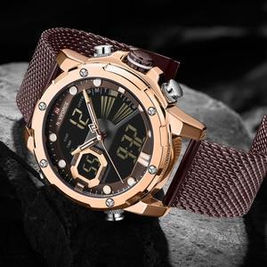 Часы наручные NAVIFORCE Мужские кварцевые, брендовые Роскошные спортивные водонепроницаемые в стиле милитари