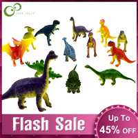 12pcs Mini Animals Dinosaur Simulation Toy Jurassic Play Dinosaur Model Action Figures Classic Ancient Collection For Boys GYH