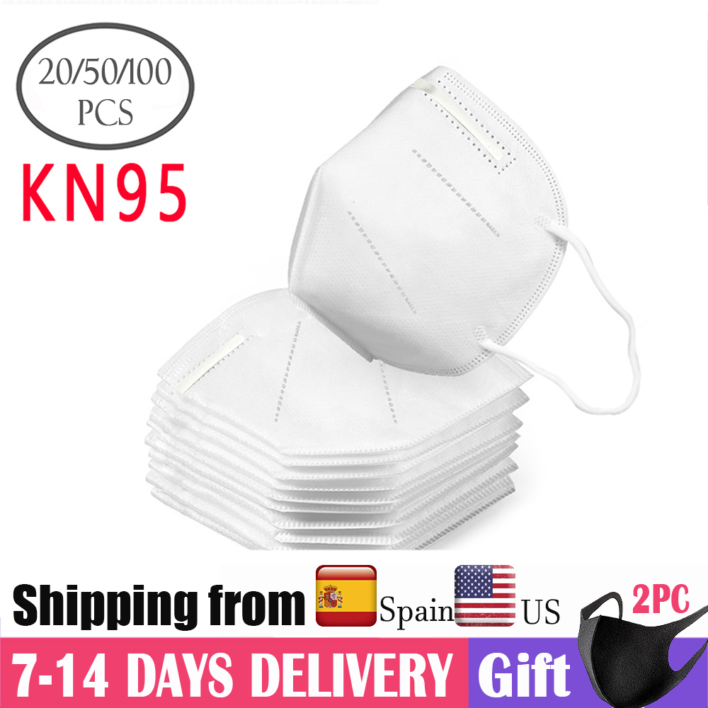100PCS N95 Mask KN95 Dust Respirator Mask Same As FFP2 Anti Dust Prevention Smog Prevention Masks Masque Ffp2 Mascarilla