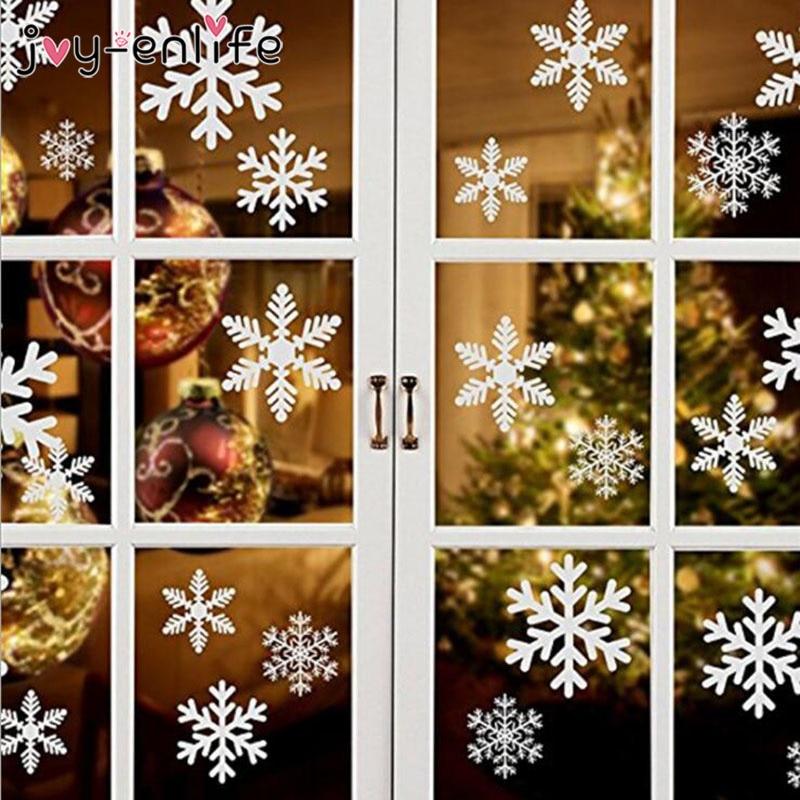 1 rinkinys baltos snaigės lipdukų dekoravimo stiklo lango vaikų - Šventės ir vakarėliai - Nuotrauka 3