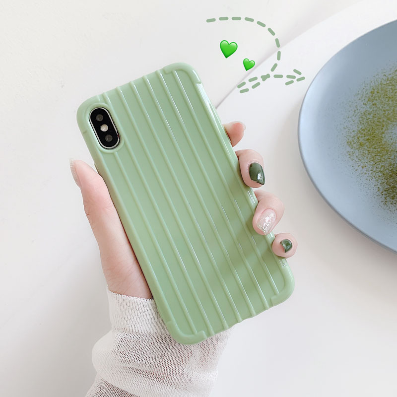 For <font><b>OPPO</b></font> RX17 Neo F5 F7 A73 A59 F1S A57 <font><b>A39</b></font> A71 Realme 3 Pro R15 R15X K1 R17 <font><b>Case</b></font> Candy Color Luggage Striped Soft TPU Cover image