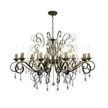 Moderne Kristall Kronleuchter 10 licht schwarz kristall regentropfen decor große Kronleuchter für Wohnzimmer Hause Beleuchtung Indoor Lampe