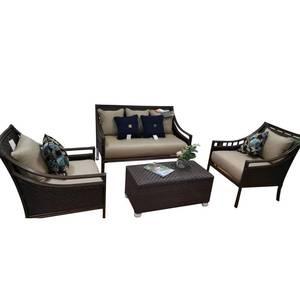 SOKOLTEC Table-Sets Sofa Garden-Furniture Rattan Patio Wicker Outdoor Sectional-Tables