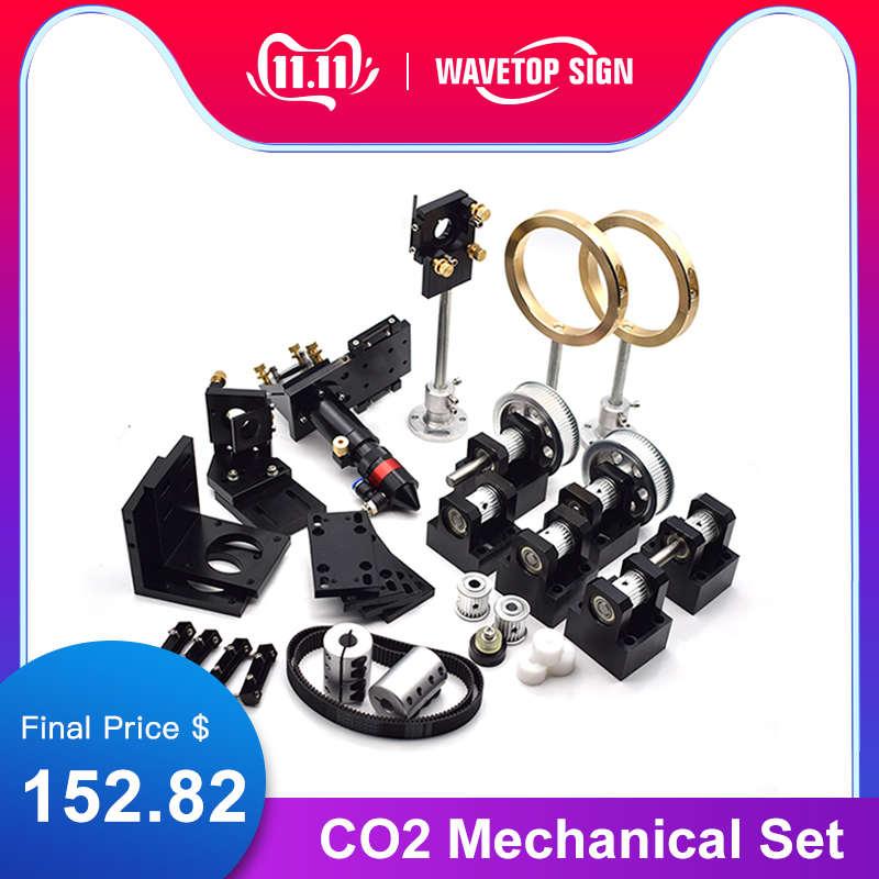 WaveTopSign CO2 Laser Metall Teile Übertragung Laser kopf Set Mechanische Komponenten für DIY CO2 Laser Gravur Schneiden Maschine