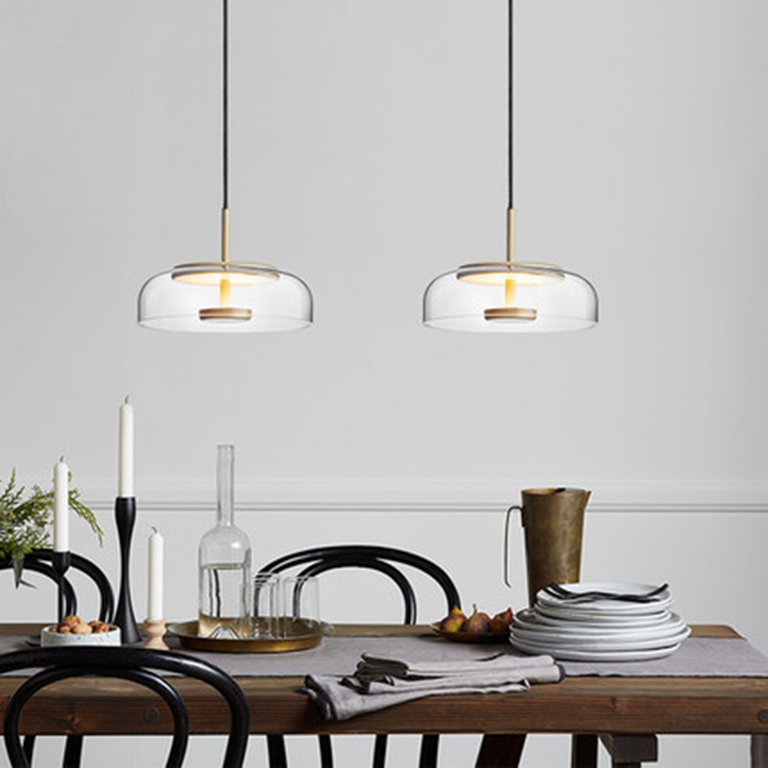 Nordic Creative LED Glass Mushroom Pendant Lights Lighting Modern Cafe Living Room Lamp Restaurant Bedroom Decor Light Fixtures|Pendant Lights| |  - title=