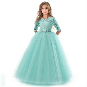 Image 5 - Платья для девочек подростков, для девочек 10, 12, 14 лет, на день рождения, бальное платье с цветами, на свадьбу, Детские Вечерние платья принцесс, детская одежда