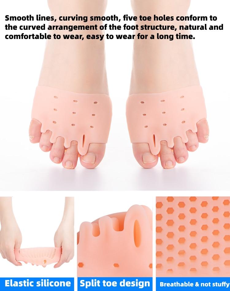 20 par toe protector silicone antepé separador
