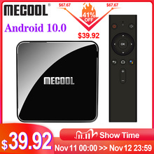 MECOOL KM3 ATV Google Certified TV, pudełko Android 10 TV, pudełko 4GB 64GB Amlogic S905X2 9.0 KM9 Pro 4GB 32GB Androidtv 4K podwójne pudełko Wifi