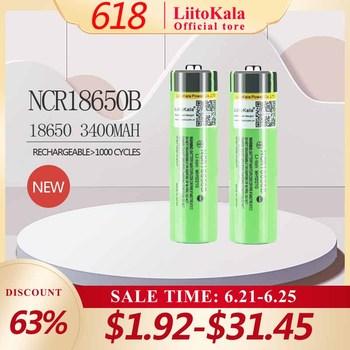 Liitokala-Akumulator litowy do latarki NCR18650B 3 7 v 3400 mah 18650 (bez PCB) gorący 100 nowy oryginalny tanie i dobre opinie NCR18650B 3400mAh Li-ion Rohs 3001-3500 mAh CN (pochodzenie) Tylko baterie Pakiet 1 1-20