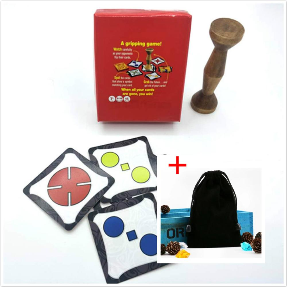 New Totem Express English Board Game Jungle Token Run Fast Pair Speed Forest For Party Fun Cards With Brown Wood 80 Cards