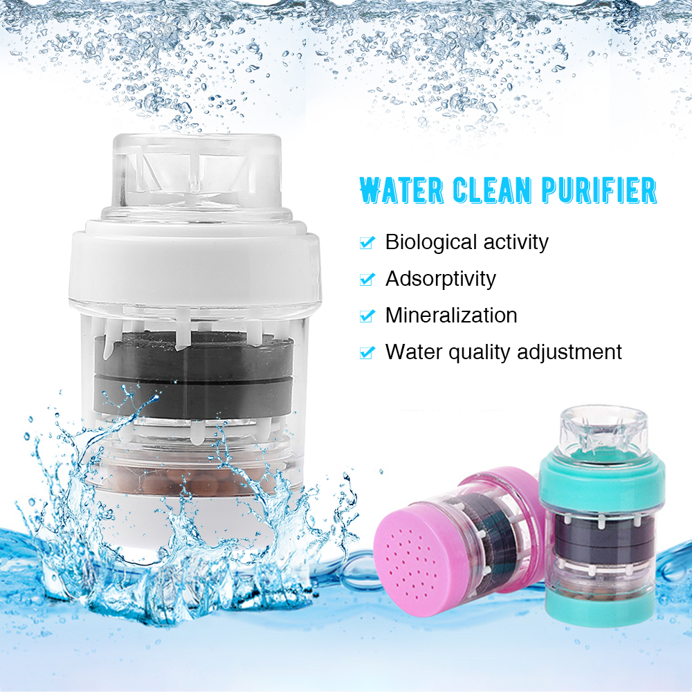 1Pc Multifunction Faucet Filter Tap Water Purifier Household Medical Stone Magnetized Water Filter Kitchen Utensils 3 Colors