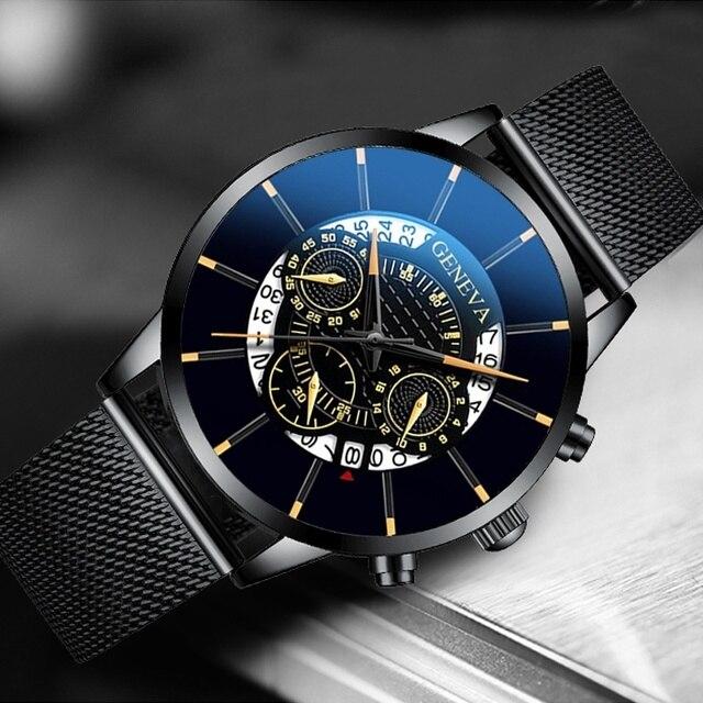 Stainless Steel Calendar Quartz Wristwatch 3