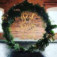 Iron Circle Wedding Birthday Arch Decoration Background Wrought Props Single Flower Arch Outdoor Lawn Road Guide