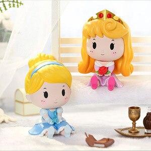 Disney Принцесса глухая коробка серии кукол, игрушки, мультфильм Ариэль Белоснежка Белль фигурка, фигурка, подарок на день рождения, детская иг...