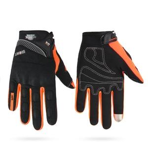 Image 2 - Suomy luvas da motocicleta dos homens de corrida gant moto motocross equitação luvas da motocicleta respirável verão dedo cheio guantes