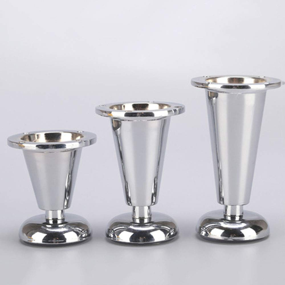 Adjustable Sofa Feet Silver Coffee Table Replacement Cup-Shaped Cabinets/Bed Feet Thick Non-Slip Furniture Legs High 8~12cmLegs