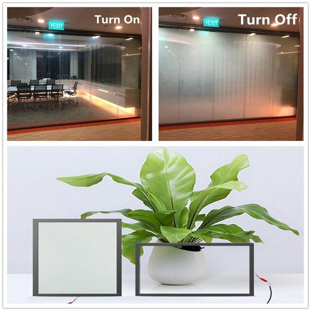 SUNICE PDLC חכם סרט פרטיות חשמלי חכם זכוכית להחלפה דבק חלון גוון עבור בית, משרד לקוחות מותאם אישית