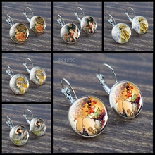 Fashion Earring Jewelry Autumn Harvest Art Earrings Charm Alphonse Mucha Nouveau Ear Hook for Women