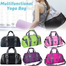 Модная водонепроницаемая сумка для йоги, ткань Оксфорд, сумка для фитнеса, для женщин и мужчин, большая Вместительная дорожная сумка для спортзала, спортивная сумка через плечо