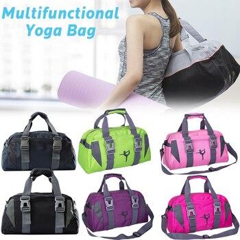 Fashion Waterproof Yoga Bag Oxford Cloth Fitness Bag For Women And Men Large Capacity Travel Gym Bag Shoulder Crossbody Sport