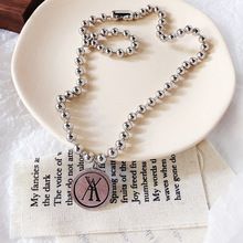 Hip-hop retro street casual old fashion long round wild couple necklace bead chain