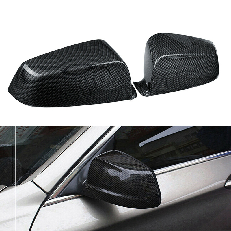 Carbon Fiber Side Rear View Mirror Cover Trim For BMW 5 Series E60 F10 F02 2008-12