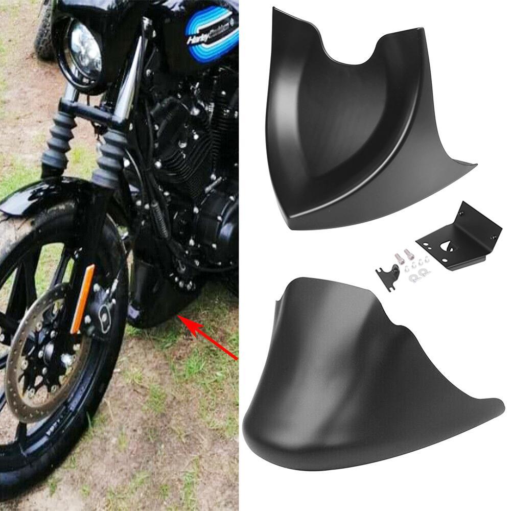 Матовый/светильник для мотоцикла, черный передний нижний спойлер, воздушная дамба, обтекатель подбородка для Harley XL Sportster 883 1200
