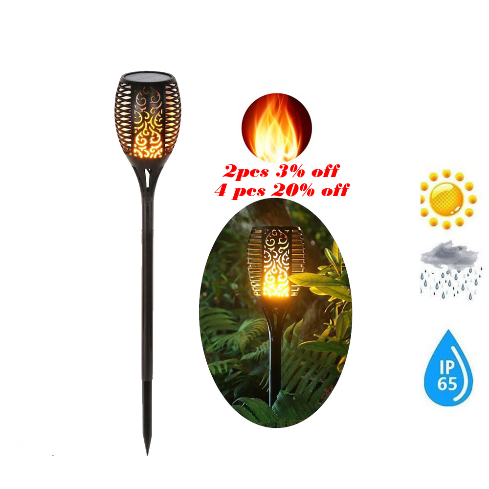 Solar 33LEDs Lawn Dancing flame Torch Lights radar Lamp Gard Landscape Garden Light Flame Lamp Flickering bulb dancing Lawn Lamp|Solar Lamps| |  - title=