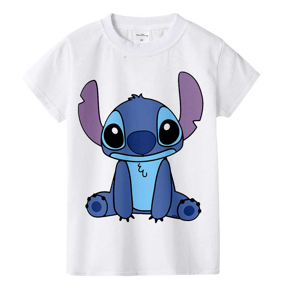 Lilo & Stitch Lilo & Stich Kinder T-Shirt Cartoon Print Anime Netter Junge Mädchen Universal Stich T-Shirt Casual kinder top BAL584