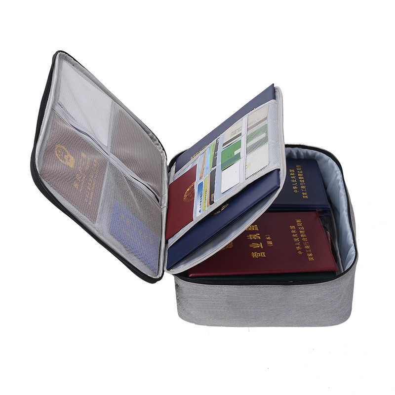Men Travel Accessory Document Package Bags Cases Large Capacity Storage Bag Organizer Important A4 File Briefcase Safe Package