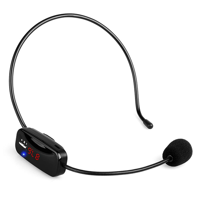 Wireless Microphone Headset MIC Voice Amplifier FM Transmitter 87.5-108MHz & Rechargeable Battery For Teaching Tour Guide Y4430