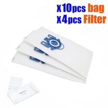 10 pièces/lot Hepa aspirateur sacs à poussière avec filtres pour Miele Type GN Deluxe aspirateur synthétique & 4 filtres S5 S8 C2 C3