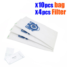 10Pcs/Lot Hepa Vacuum Cleaner DUST BAGS With FILTERS For Miele Type GN Deluxe Synthetic Vacuum & 4 Filters  S5 S8 C2 C3