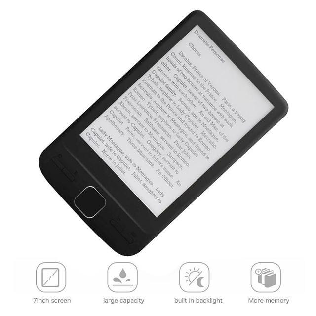 Dispositivo eletrônico da leitura do livro do papel de ereader do armazenamento 4.3x800 com luz dianteira capa do plutônio do leitor 4g/8g/16g de ebook de 600 polegadas