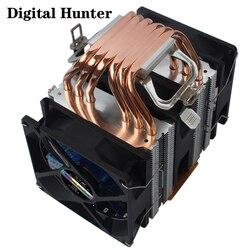 Pure copper Heat Pipes CPU Cooler 4 Pin PWM RGB PC quiet Intel LGA 2011 775 1200 1150 1151 1155 AMD AM3 AM4 90mm CPU Cooling Fan