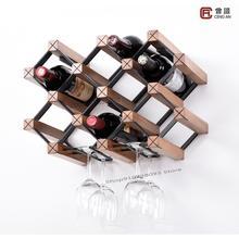 Wine-Rack Wall-Hanging Household Metal Upside-Down Customized Creative