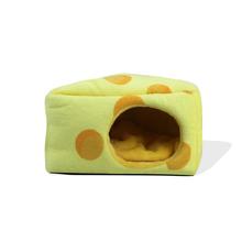 Nowy dom chomika świnka morska akcesoria chomik dom bawełniany małe zwierzę gniazdo zimowe ciepłe dla gryzoni świnka morska szczur jeż tanie tanio CN (pochodzenie) Golden Fleece + PP cotton gray 150 mm * 140