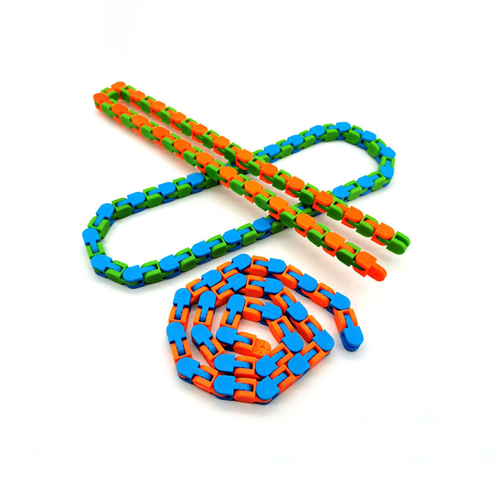 Puzzles Toys Wacky-Tracks Relief Stress Finger-Sensory Snake Fillers Snap Click And img5
