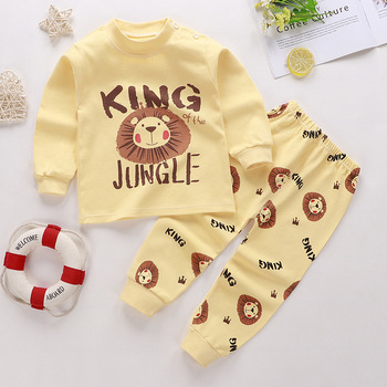 0-24M Baby Clothing Sets Autumn Baby boys Clothes Infant Cotton Girls Clothes 2pcs newborn baby Underwear Kids Clothes Set - 9, 9M