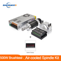 brushless spindle 500w motor ER11 spindle Display speed 55MM Clamp Stepper Motor Driver Switching Power Supply 13pcs ER11 Collet