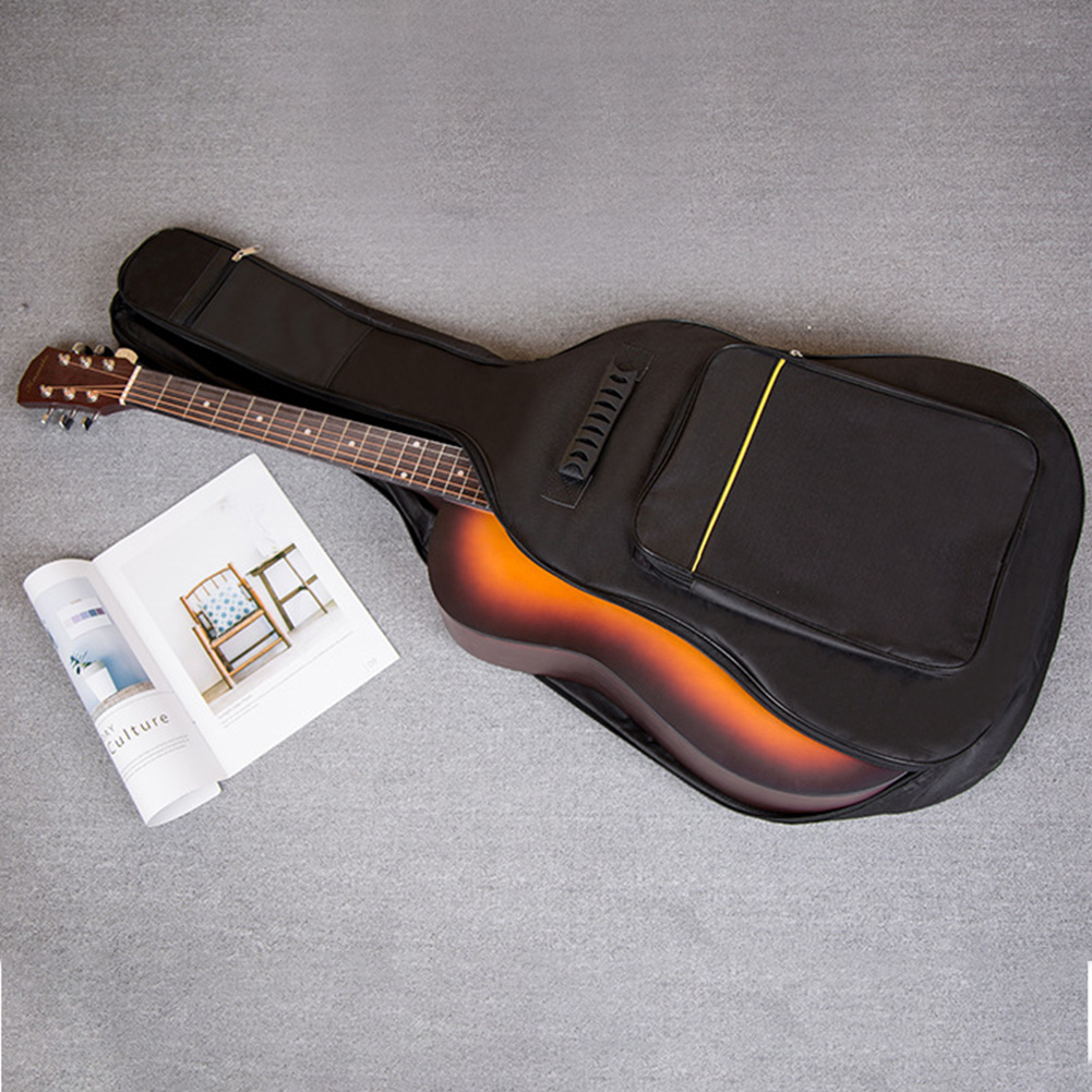 Zipper Oxford Cloth Full Size Guitar Bag Cover Carry Soft Interior Pockets Case Thicken Padded Protective Reinforced Waterproof