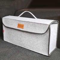 Organizador de maletero de coche bolsa de almacenamiento de coche duradera caja de contenedor de carga resistente al fuego soporte de remolque Multi-Bolsillo accesorios de coche organizador maletero