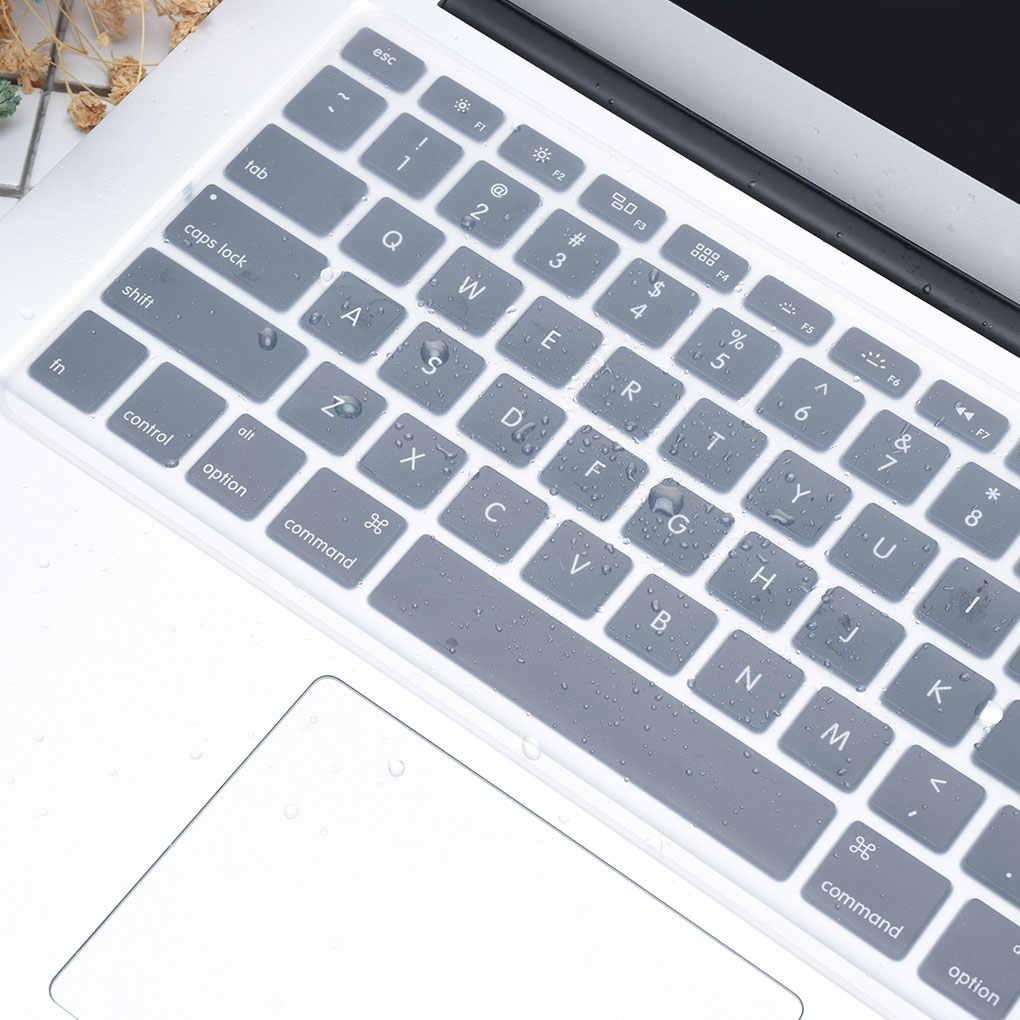 مكافحة الغبار غطاء لوحة المفاتيح مقاوم للماء العالمي لينة سيليكون غشاء واقي استبدال لأجهزة الكمبيوتر المحمول ماك بوك