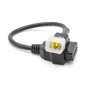Image 3 - Nieuwste OBD2 Connector Voor Motorfiets Motobike Voor Yamaha 3pin 4pin Voor Honda 4Pin Voor Ktm 6pin Moto Obd OBD2 Extension kabel