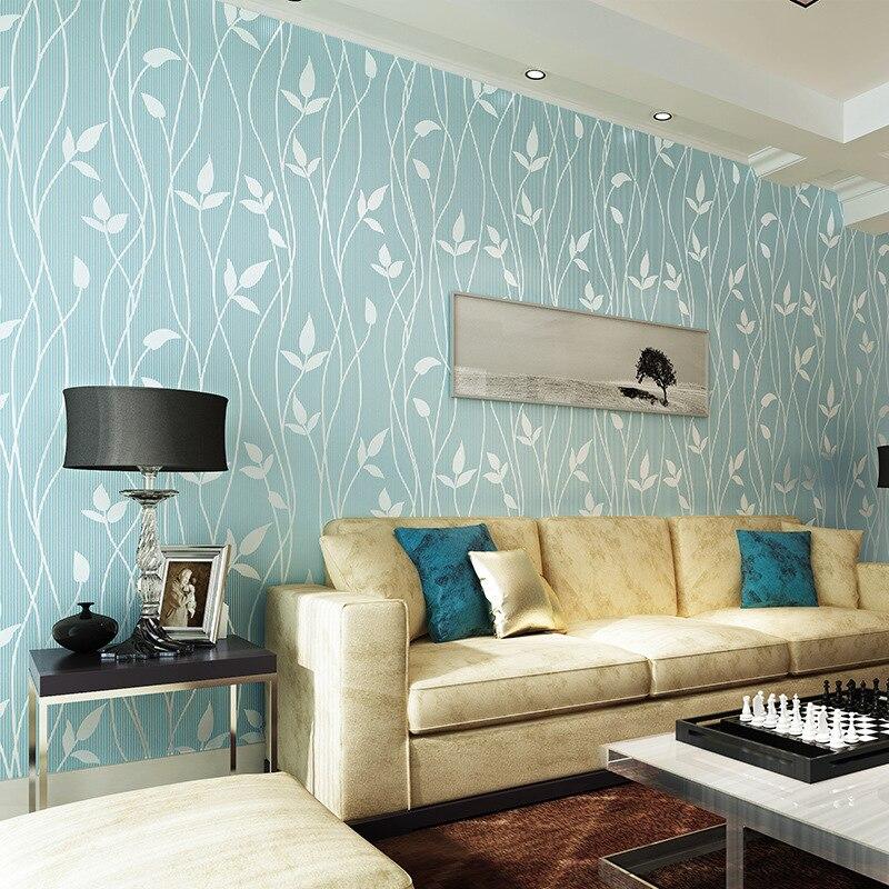 Modern Minimalist 3D Warm Pastoral Style Non-woven Wallpaper Living Room Bedroom TV Background Stripes Plain Color Wallpaper